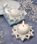 Heart and Snowflake Candle Favor