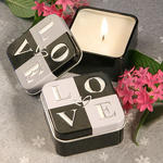 Light for Love Collection LOVE Design Candle Tins
