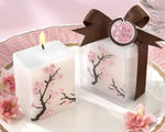 """Cherry Blossom Elegance"" Mini-Pillar Candle (Set of Four)"