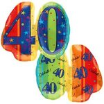 40 Jumbo Shape Mylar Balloon