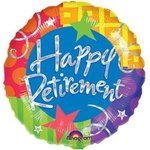 18 Happy Retirement Mylar Balloon