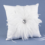 Feathered Flair Ring Pillow