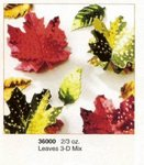 Autumn Fall Leaves 3-D Metallic Confetti Mix
