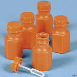 Orange Hexagon Bubble Bottles - Pkg 48