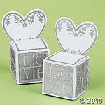 LOVE Place Card & Favor Box - Pkg 12