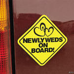 Newlyweds on Board Magnets - Pkg 12