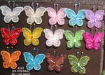 2 Nylon & Wire Butterflies - Pkg 20 - 13 Colors!