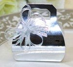 Silver Purse Shape Favor Boxes - Pkg 12