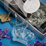 Glistening Crown Design Keychain Favors