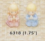 1.75 Inch Poly Resin Baby Figurines - Boy or Girl