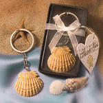 Key to Love Scallop Shell Key Chain