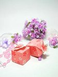 Pink Cherry Blossom Favor Boxes - Pkg 24