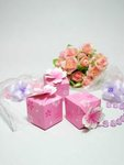 Fuchsia Cherry Blossom Favor Boxes - Pkg 24