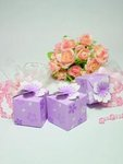 Purple Cherry Blossom Favor Boxes - Pkg 24