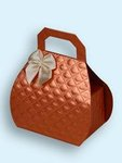Satin Copper Mini Purse Favor Boxes - Pkg 24
