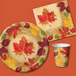 Mod Leaves Fall Napkins - Beverage or Luncheon