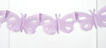 11 Foot Lilac Butterfly Tissue Garland - Pkg 2