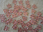 100 5/8 Acrylic Rhinestone Butterflies - Pink, Blue or Clear!