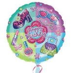 18 Happy Birthday Glamour Girl Mylar Balloon