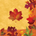 Golden Leaves Luncheon Napkins - Pkg 18