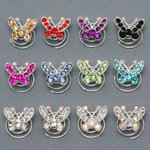 Delicate Butterfly Rhinestone Hair Spiral - Colors!