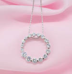 Cubic Zirconia Eternity Circle Necklace
