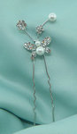 Alicia Pearl & Rhinestone Butterfly Hair Pin