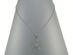 Clear Starfish Necklace with Irridescent Center Stone