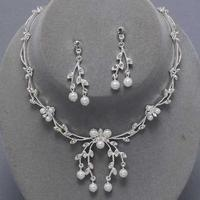 Eleanor Pearl & Rhinestone Necklace Set
