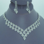 Johanna Rhinestone Necklace Set