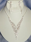 Majestic Drop Rhinestone Necklace Set