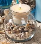 Beach Theme Shell Candle Set
