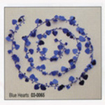 Blue or Purple Hearts Foil Wired Garland