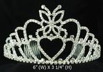 Butterfly Topped Rhinestone Tiara - Silver or Gold!