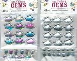 3D Self Stick Crown Gems - 2 Colors!