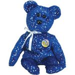 Ty Beanie Baby Bear Decade - Blue