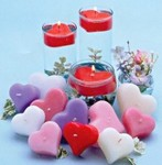 2 Floating Heart Candle - White or Ivory