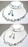 Flower Shape Necklace / Earrings / Bracelet Set - 9 Colors!