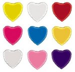 18 Inch Foil Mylar Heart Balloons - 20 Colors