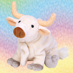 Ty Beanie Baby FROSTY the Bull