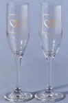 Linked at the Heart Toasting Flutes