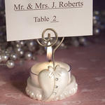 Fashionable Heart Design Favor Saver Candle and Placecard Holder
