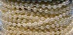 72 Feet 3 mm Pearl Bead Strands - 4 Colors!