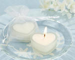 HeartLights Frosted Glass Heart Candles - Set of 4