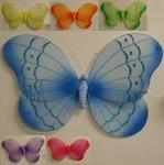 21 Glitter & Gem Nylon Butterfly Decoration - 6 Colors!