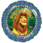 18 Birthday King Lion King Mylar Balloon