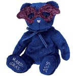 Ty Beanie Baby MARDI GRAS the Bear