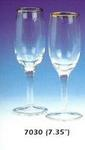 Edged Glass Champagne Flute - Gold or Silver!