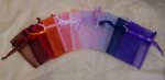 3 x 4 Sheer Organza Bag - 24 Colors!