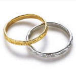 Mini GOLD or SILVER Wedding Ring Favors - Pkg 144
